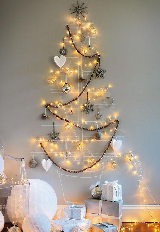 Decorações bilhantes para árvore de parede.