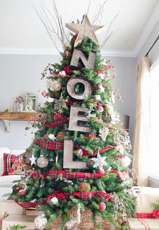 Enfeites grandes para árvore de Natal