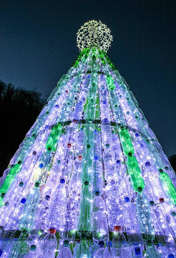 Árvore de tubos brilhantes