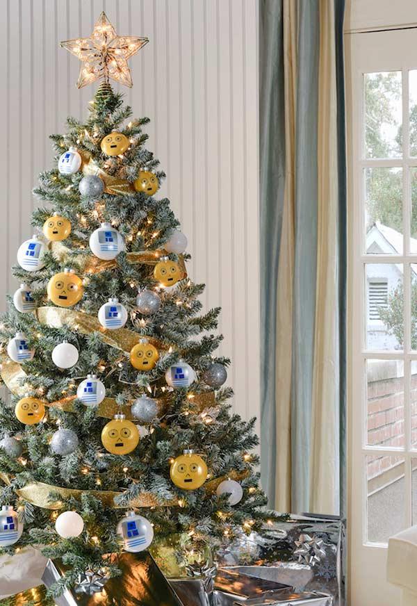 Bolas de Natal personalizadas com o tema Star Wars