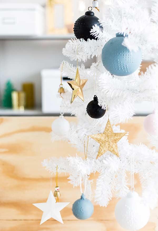 Bolas de Natal pintadas