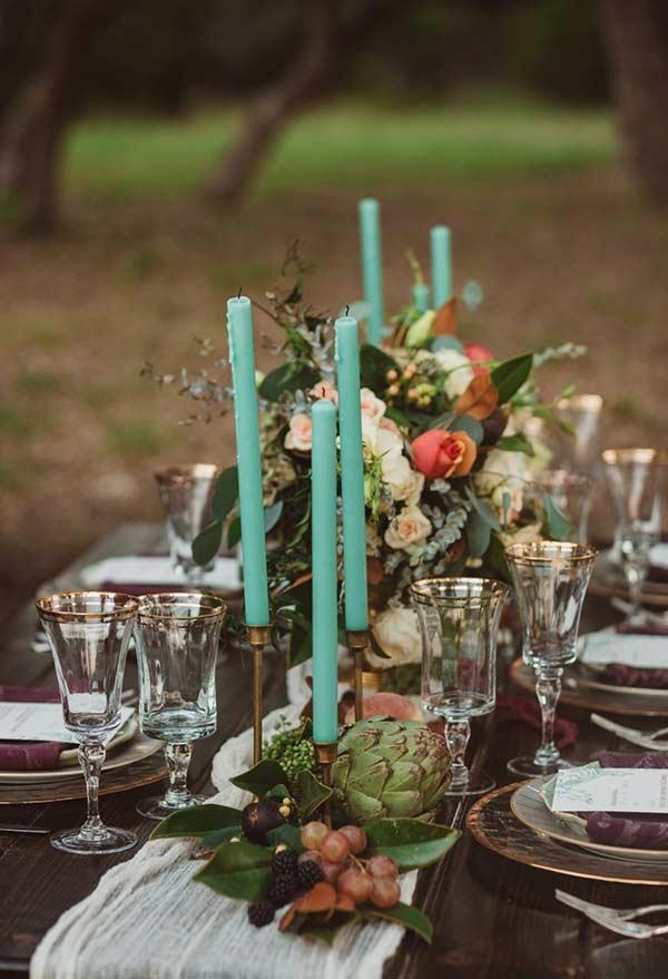 Azul Tiffany em uma decoração mais romântica