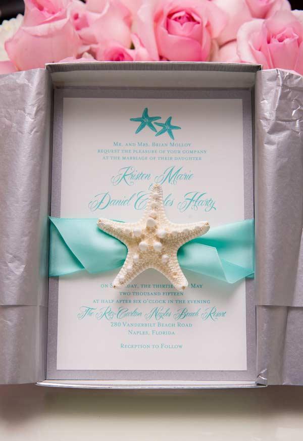 Azul Tiffany para um casamento na praia