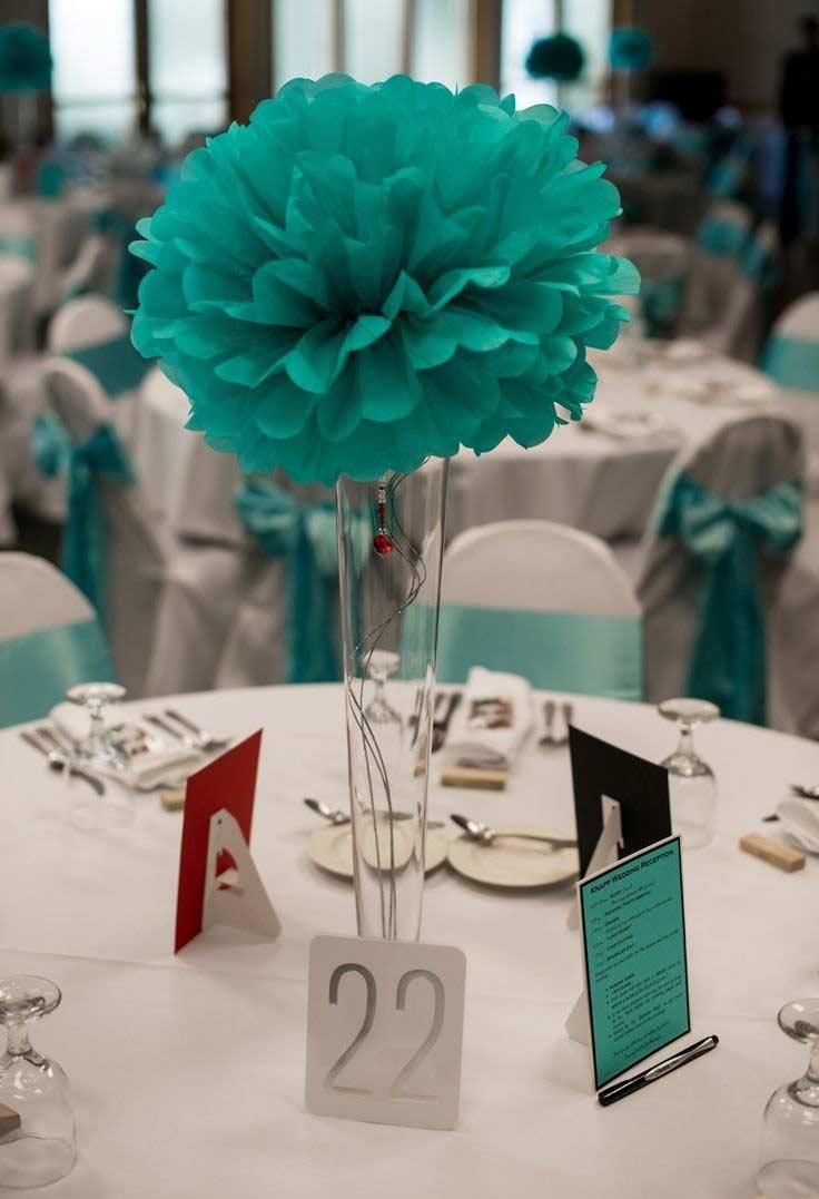 Flores azul Tiffany na decoração
