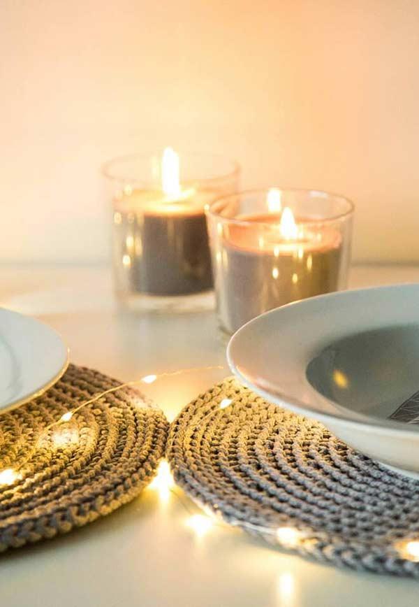 Sousplat de crochê para deixar a sua mesa mais elegante