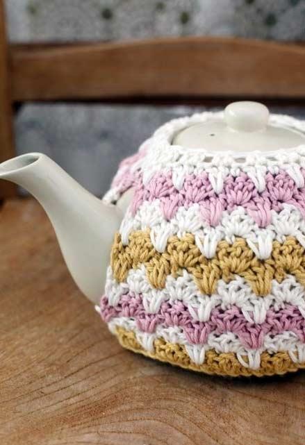 Capa aconchegante para o bule de chá