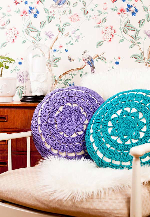 Capa de almofada em crochê: uma opção versátil para comercialização