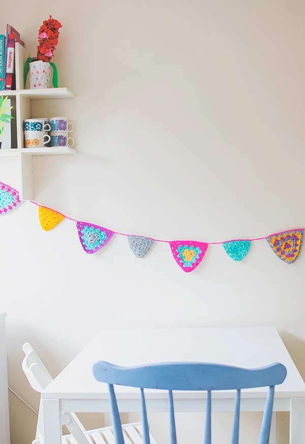 Garlands coloridos em crochê