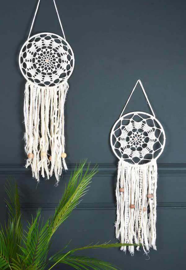Filtro dos sonhos em crochê: para decorar e proteger