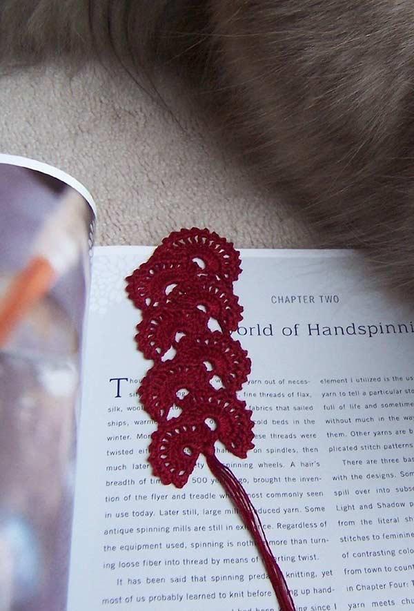 Marca páginas decorativo em crochê