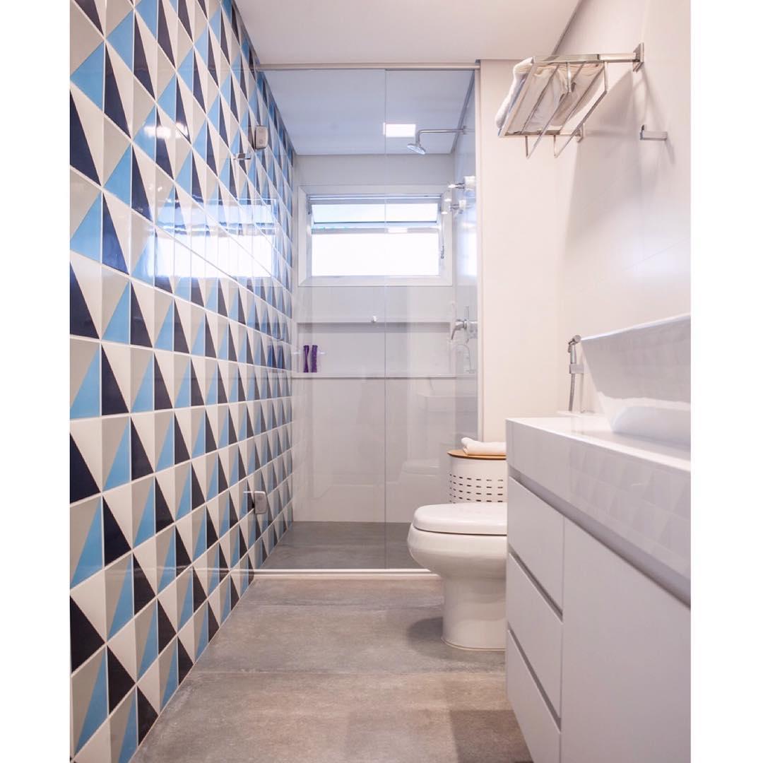 Azulejo para banheiro 60 inspira es de ambientes decorados - Azulejos de pared ...