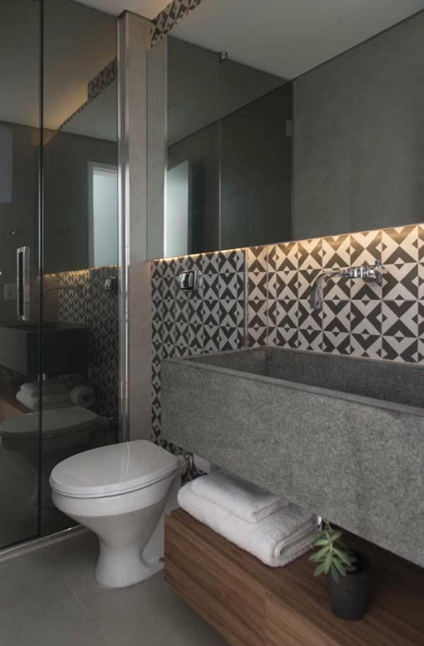 Banheiro com um toque urbano