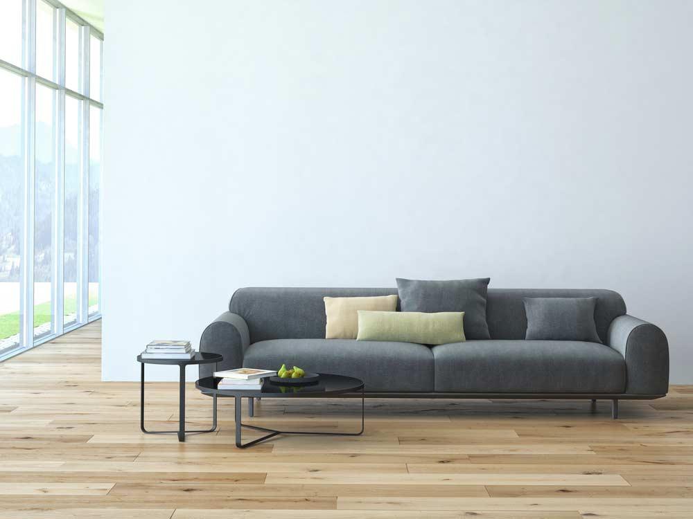 Sala de estar organizada