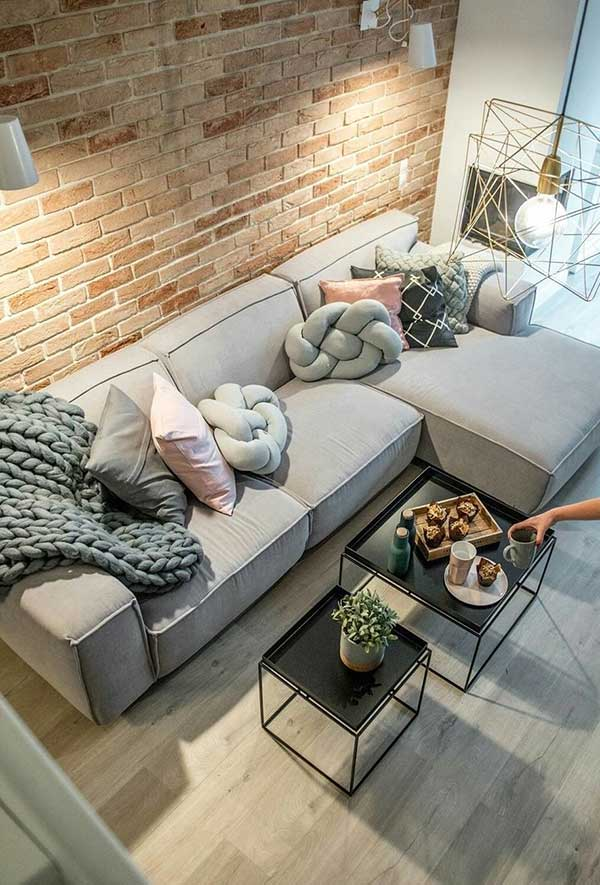 Almofadas inspiradas em formatos geométricos