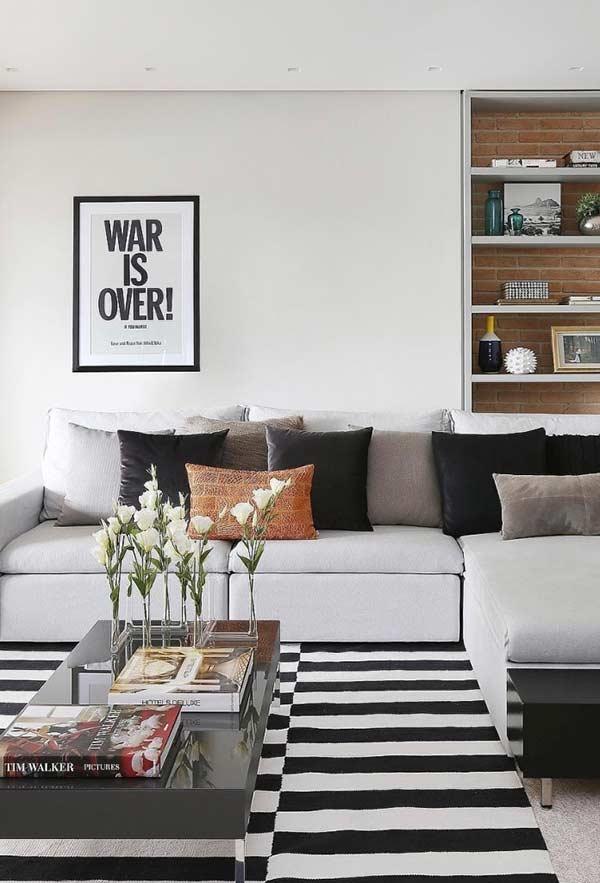 Cores de almofadas para sala de acordo com a decoração do ambiente