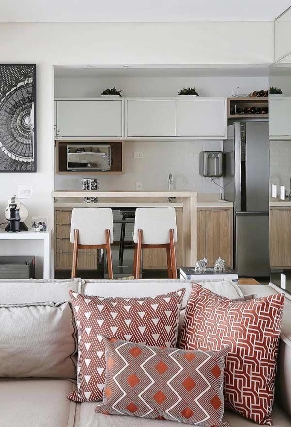Almofadas para um espaço pequeno