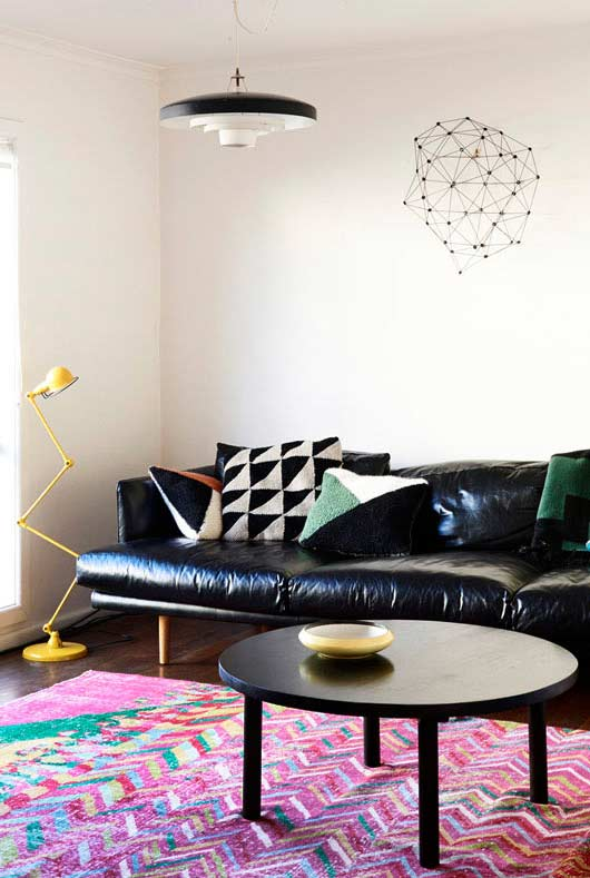 Padronagem geométrica para as almofadas