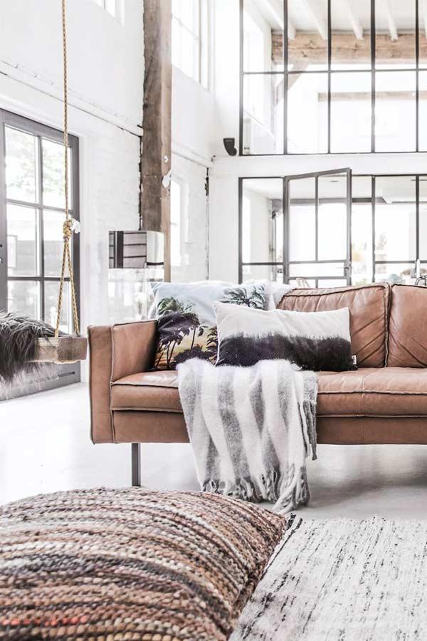 Almofadas para sofá com tecidos estampados