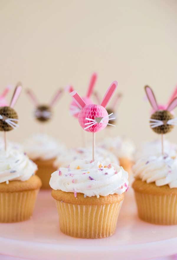 Mesa de cupcakes para a Páscoa
