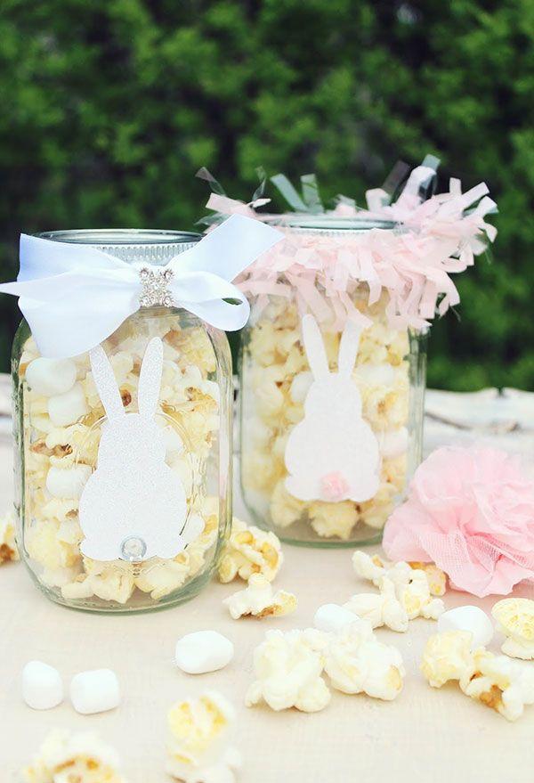 Coelhinhos de páscoa para potes de vidro
