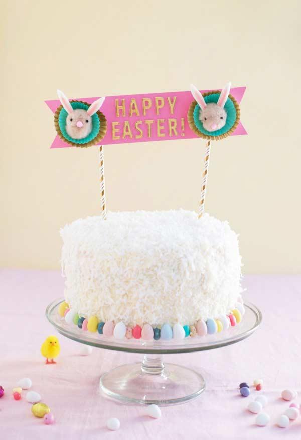 Topper estiloso para bolo simples