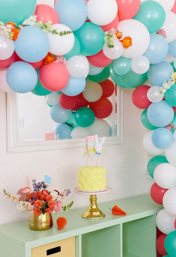 Bexigas para decorar uma festa de Páscoa