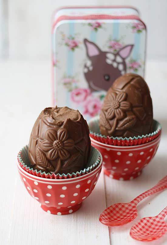 Ovinhos de chocolate trufado