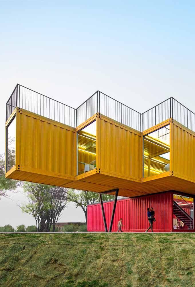 Que tal ousar na hora de fazer uma casa de container?