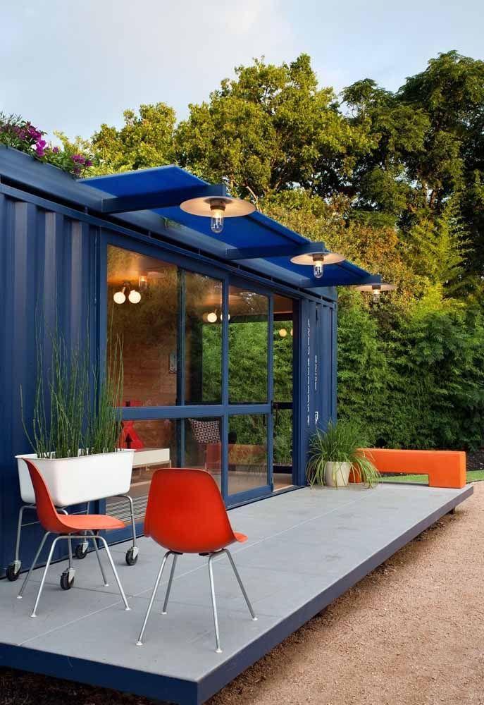 As cores fortes combinam perfeitamente com uma estrutura de container