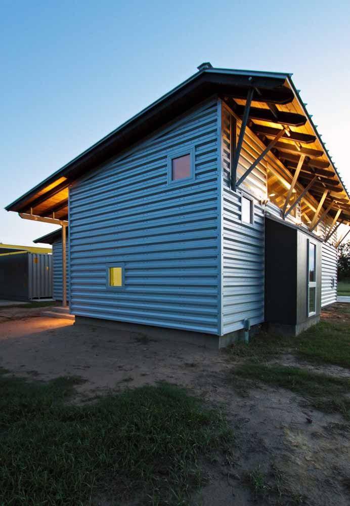 Para quem prefere uma casinha mais simples, pode construir uma pequena casa container