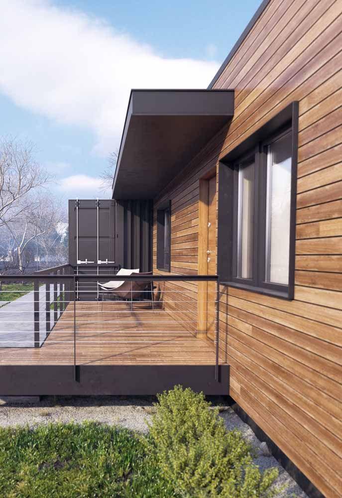 Você acredita que essa casa é toda feita de container?