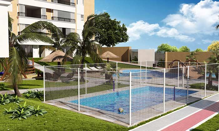 Área de lazer com piscina segura