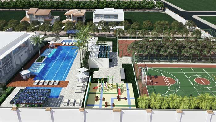 A área de lazer deve ser projetada de acordo com a demanda de moradores e espaço