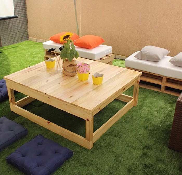 Mesa de centro para área de convivência