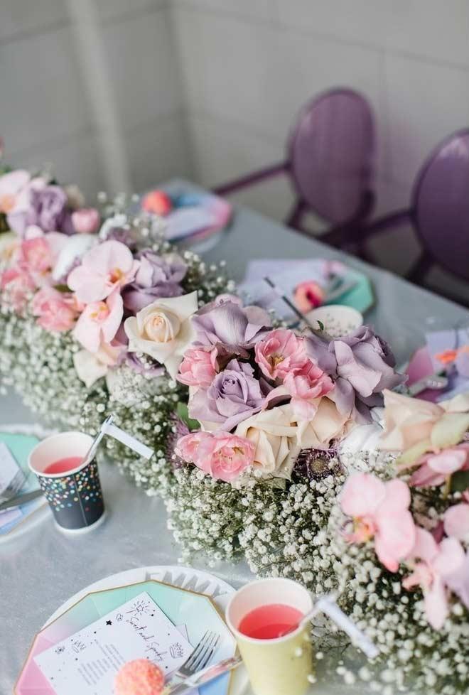 Arranjos florais para festa infantil