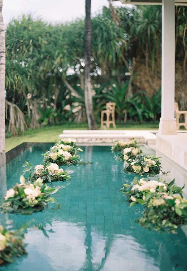 Arranjos aquáticos para casamento