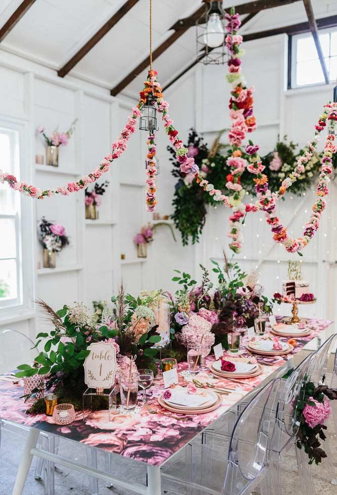 Arranjos de flores para festa primavera