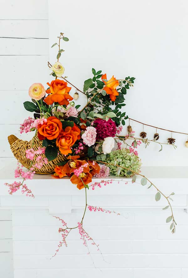 Cor e vida com arranjo de flores para uma casa minimalista
