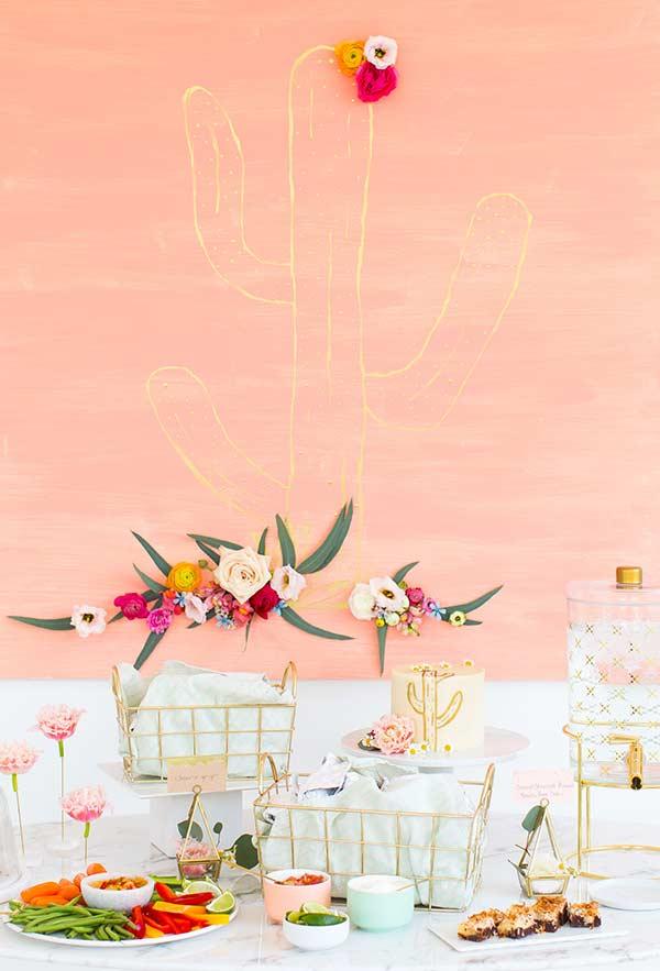 Arranjo de flor para parede decorada