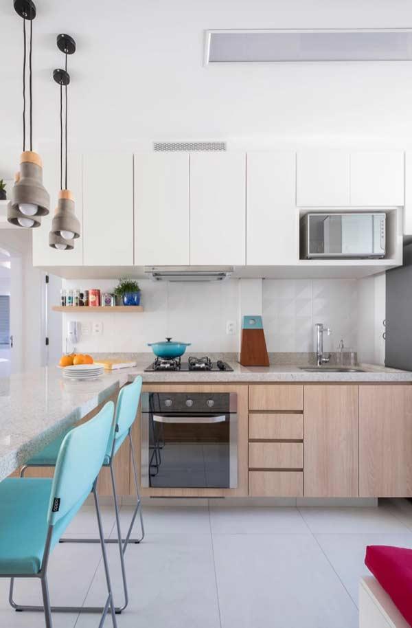 Armário para uma cozinha planejada pequena
