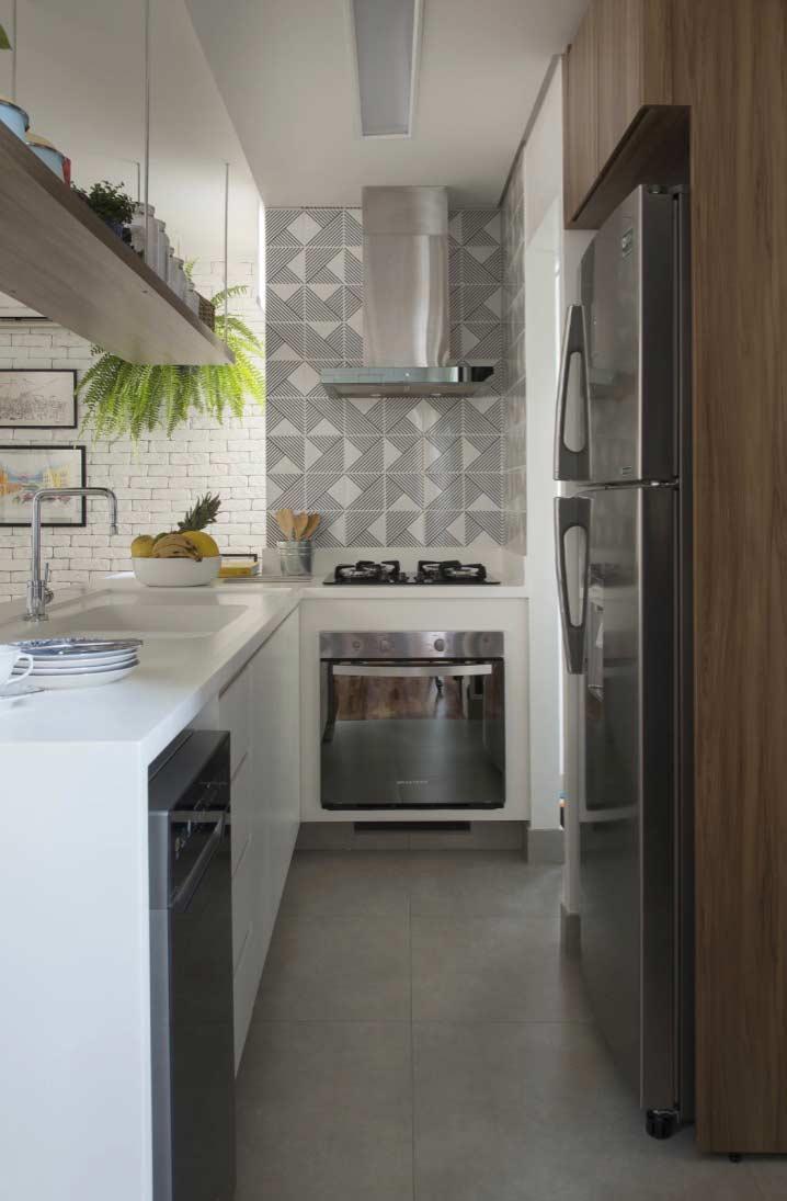 Armário de cozinha planejado em L