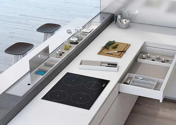 A bancada organizada é sinônimo de cozinha bonita