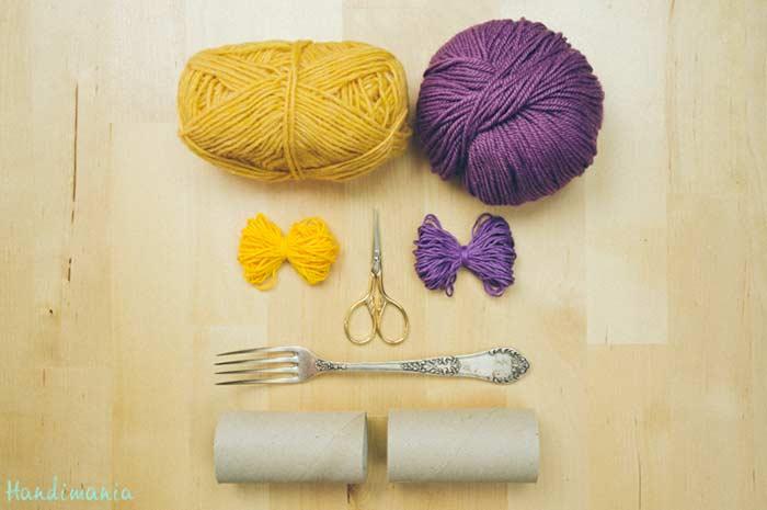 Materiais necessários para fazer pompom de lã