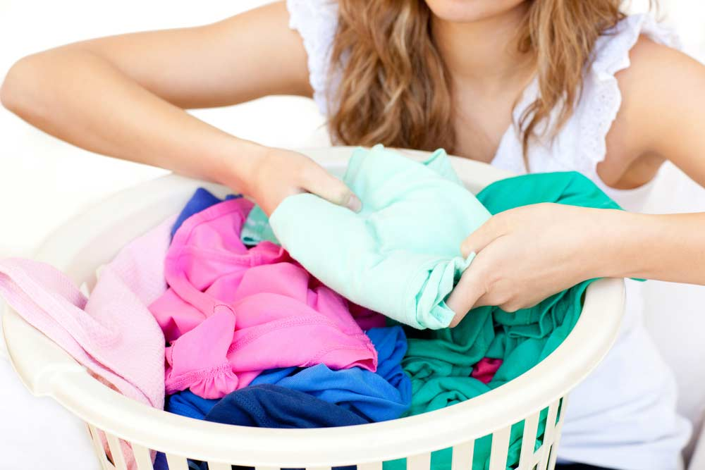 Preparação das roupas antes da lavagem