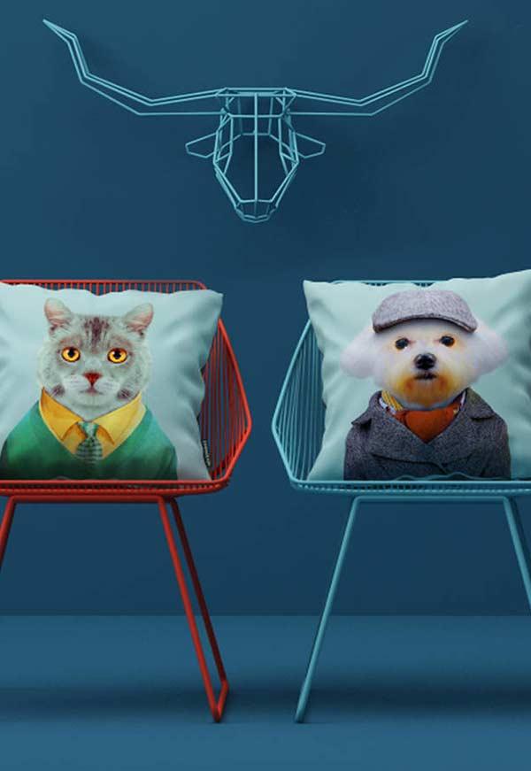 Animais humanizados com terno e gravata