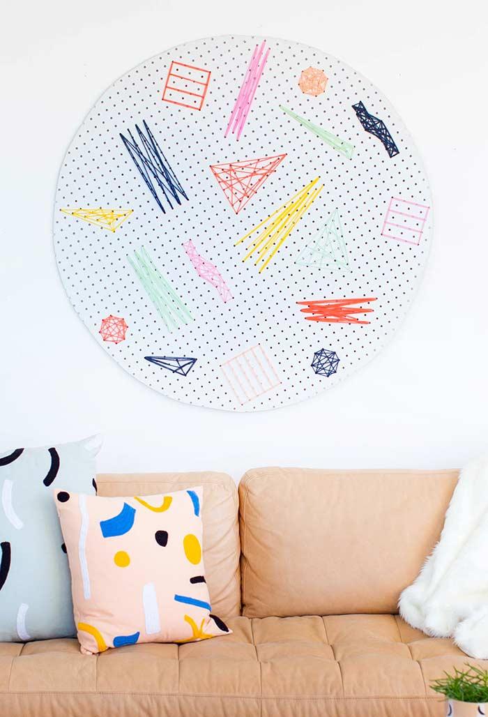 Formas abstratas e coloridas para decorar a sua sala