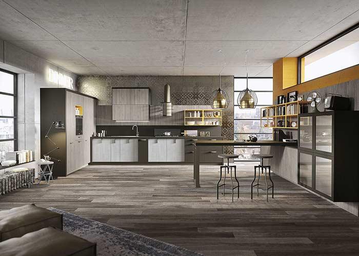Escolha um tom que combine com o estilo de um loft
