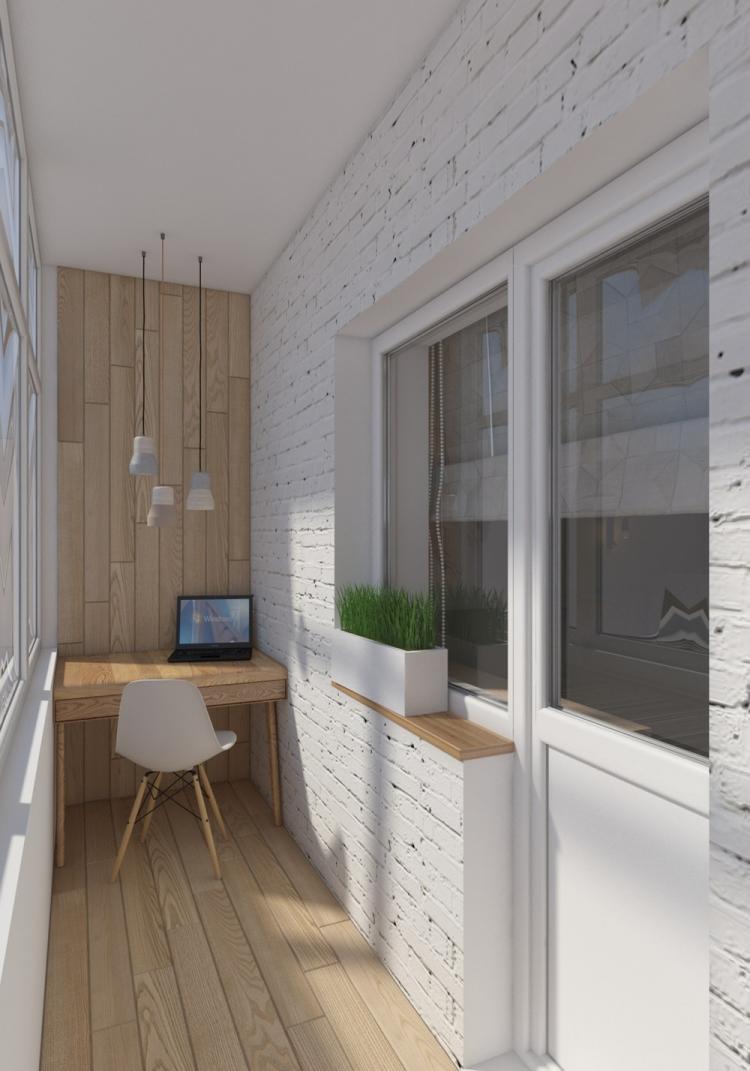 Em uma varanda fechada, aproveite para inserir materiais que não precisam ser resistentes