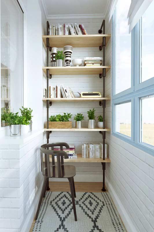 Decoração de varanda pequena com estilo escandinavo