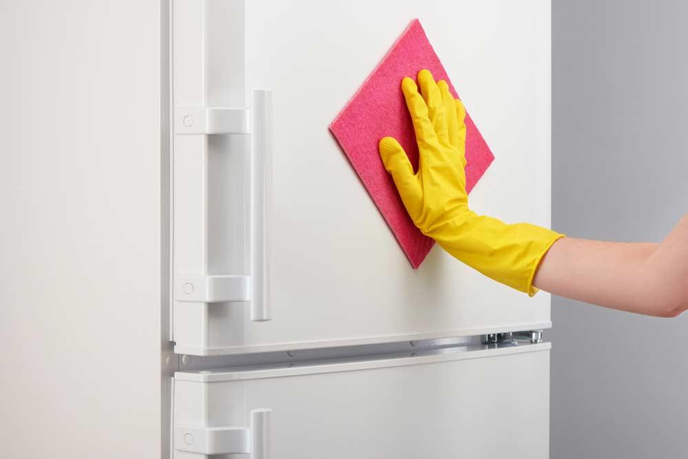 Limpeza da geladeira por fora